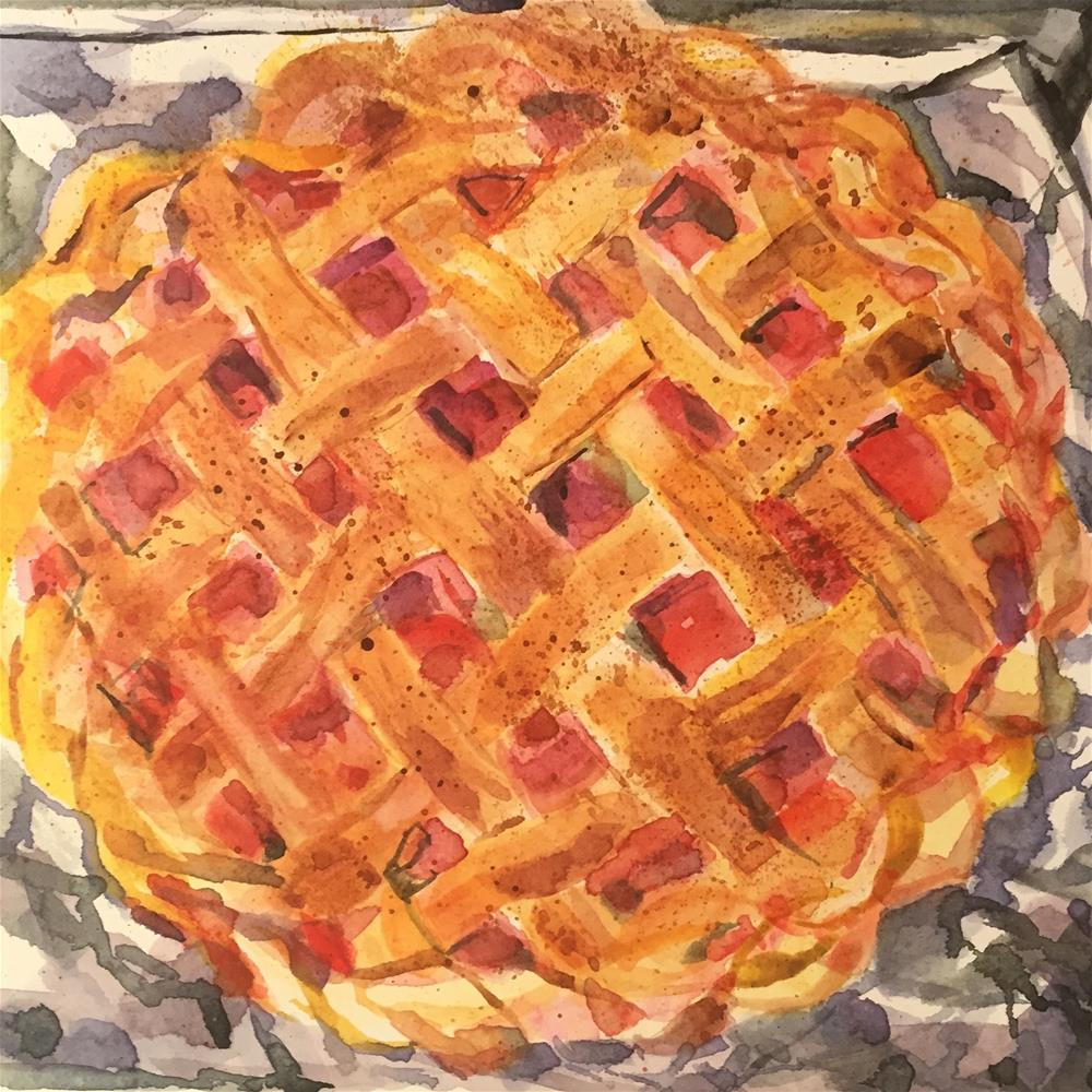 """Strawberry Rhubard Pie"" original fine art by Jean Krueger"