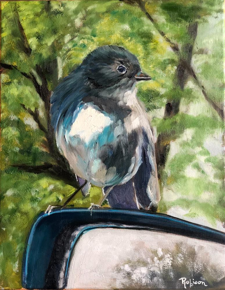 """New Zealand Tomtit"" original fine art by Renee Robison"