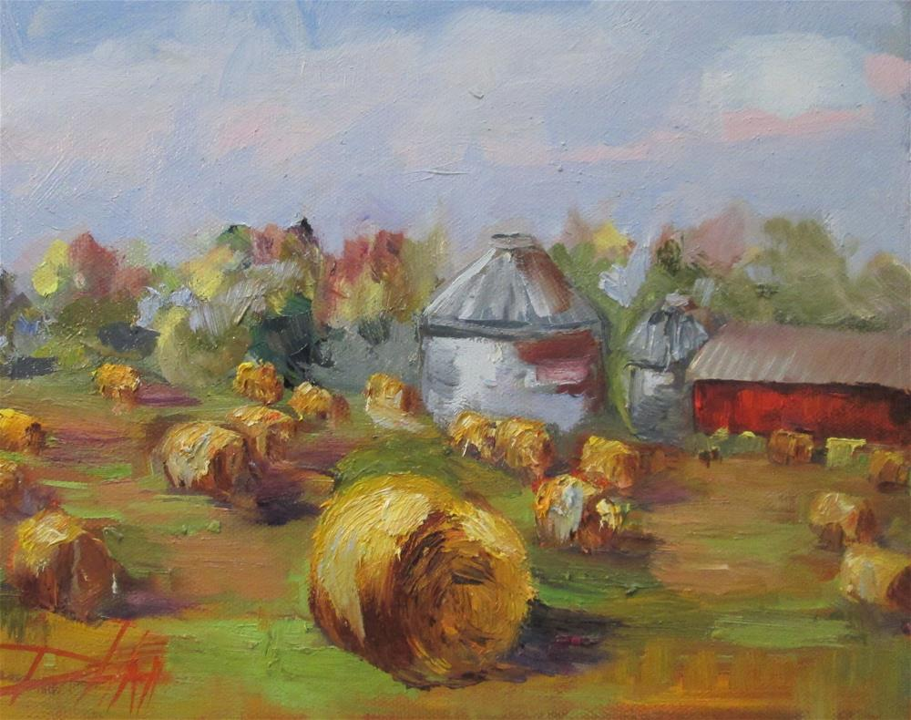 """Round Bails No. 2"" original fine art by Delilah Smith"
