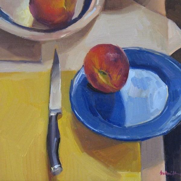 """Two Peaches"" original fine art by Sarah Sedwick"
