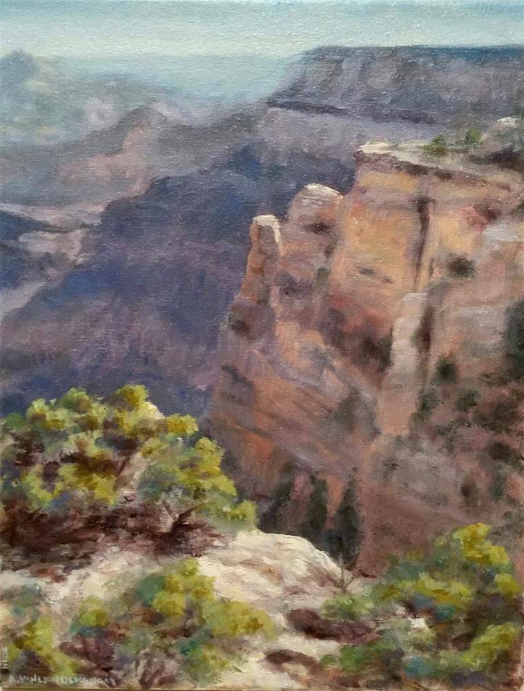 """Grand Canyon, South Rim, Study"" original fine art by Kim Vanlandingham"