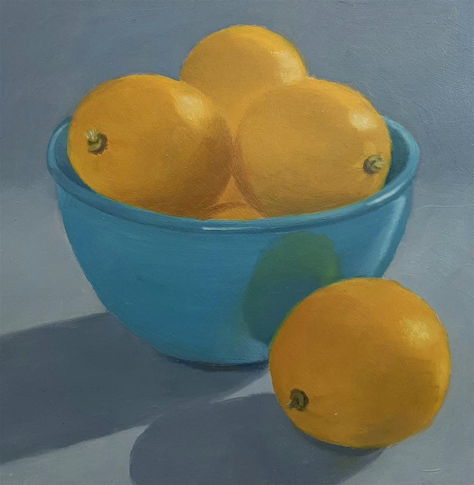 """""""Lemons"""" original fine art by Karen Johnston"""