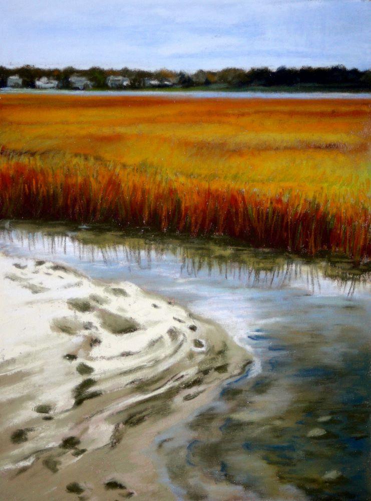 """Skirting the Edge"" original fine art by Jill Bates"
