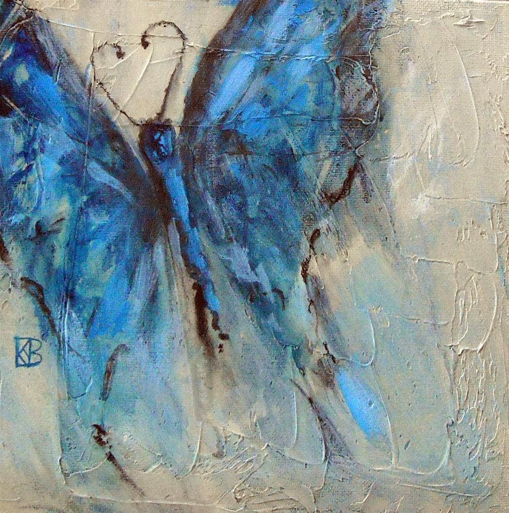 """Blue Wing Shadows"" original fine art by Kathleen Barnes"
