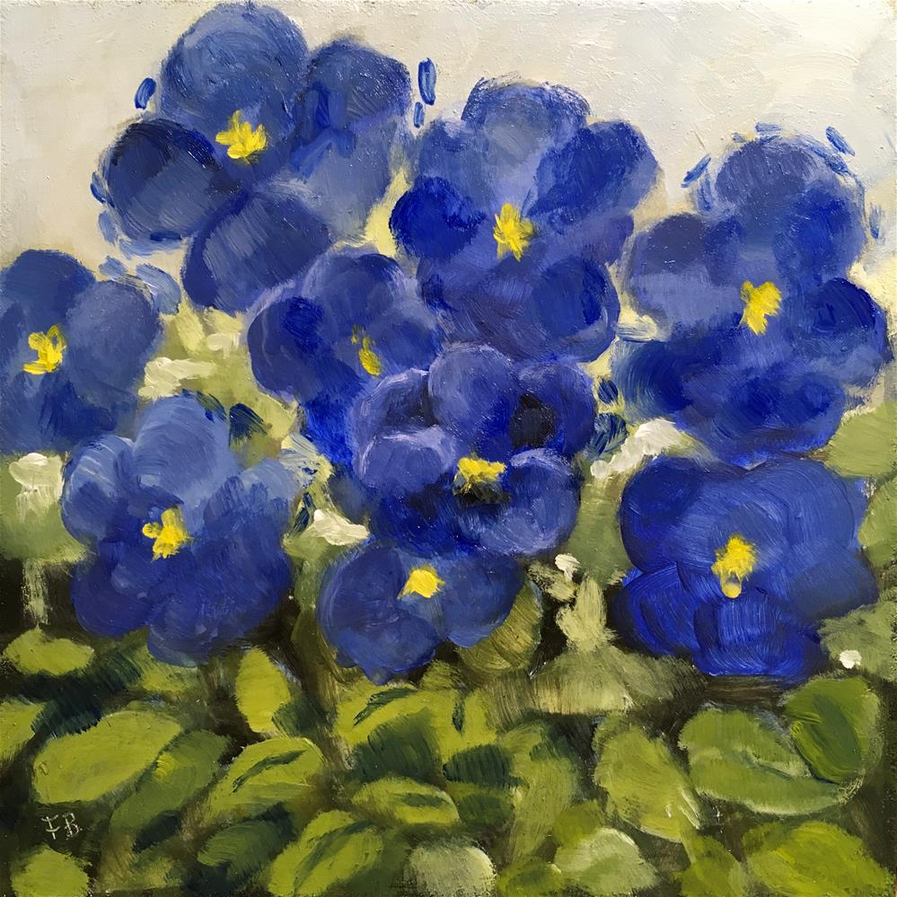 """""""283 Pansies"""" original fine art by Fred Bell"""