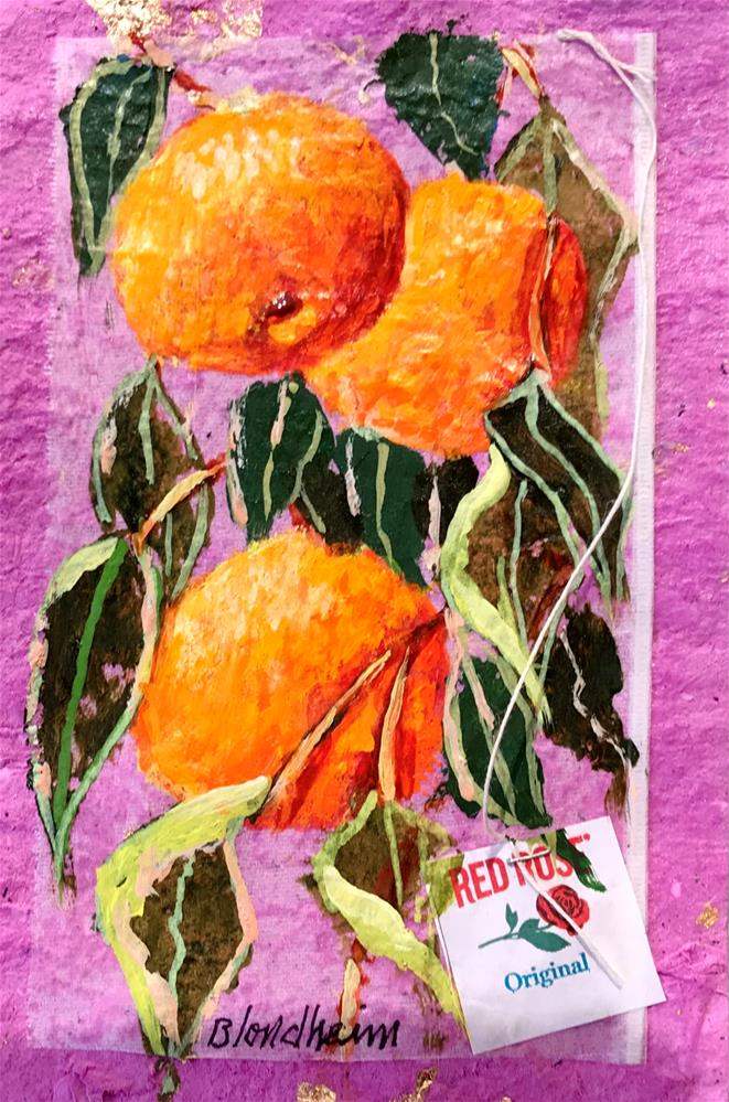 """Tangerine Tree"" original fine art by Linda Blondheim"