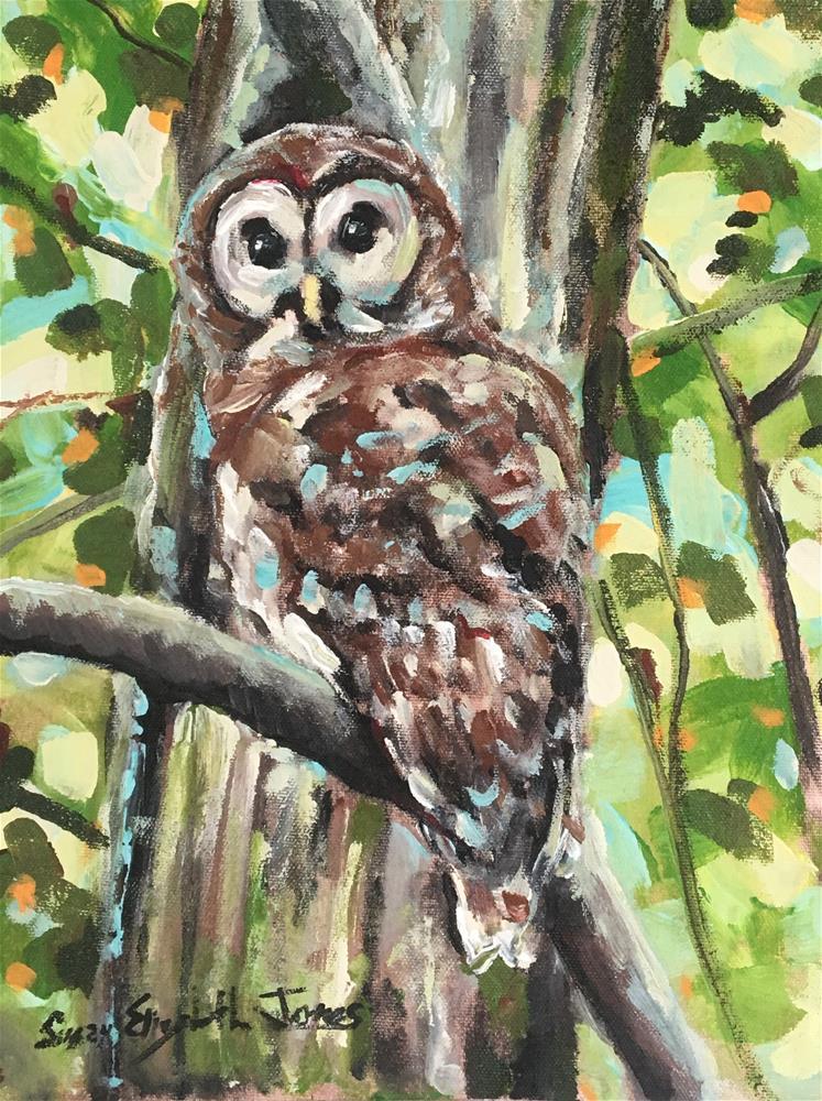 """Wisdom"" original fine art by Susan Elizabeth Jones"
