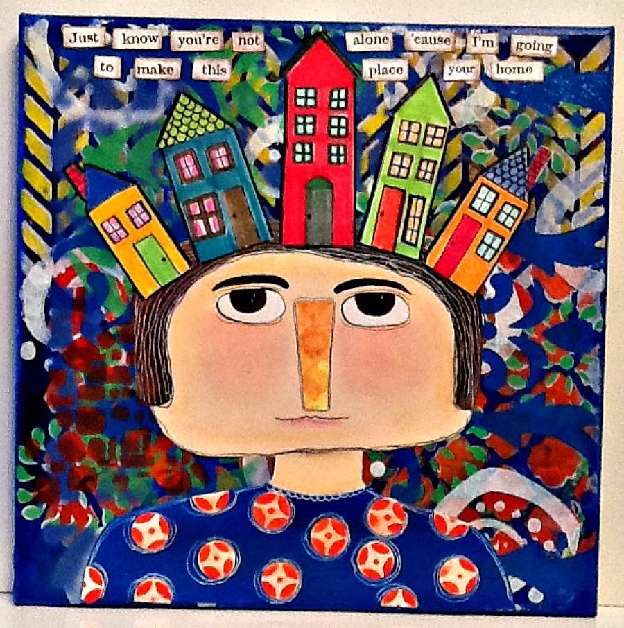"""YOUR HOME"" original fine art by Cindy Zoglmann"