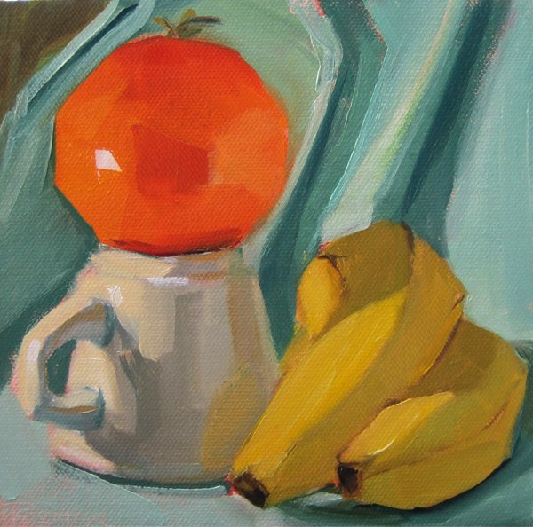 """Orange You Glad"" original fine art by Robin Rosenthal"