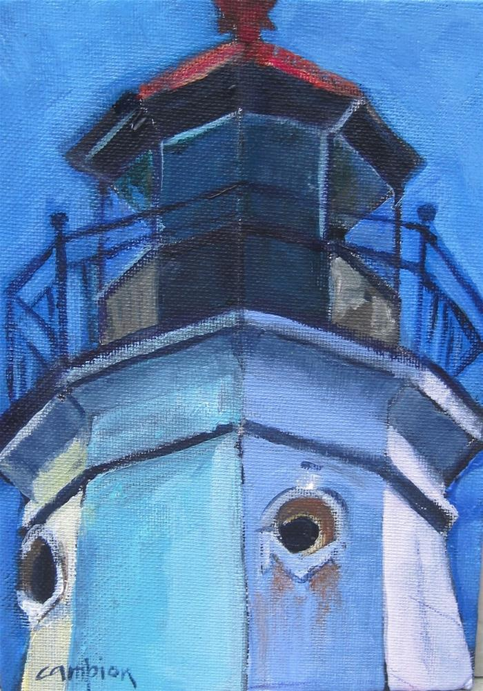 """""""122 North Point Lighthouse Optic Section"""" original fine art by Diane Campion"""