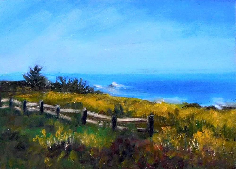 """Mustard Fields"" original fine art by Cietha Wilson"