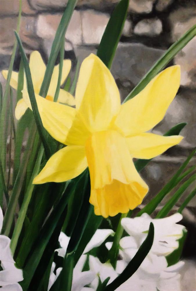"""Daffodil"" original fine art by James Coates"
