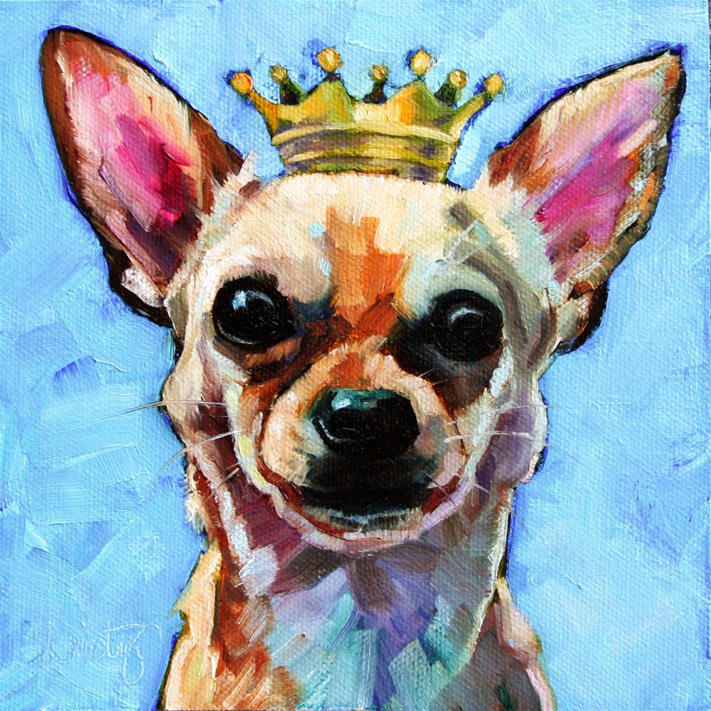 """IT'S GOOD TO BE KING"" original fine art by Kristy Tracy"