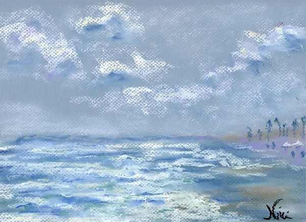 """""""View from the Jetty"""" original fine art by Niki Hilsabeck"""
