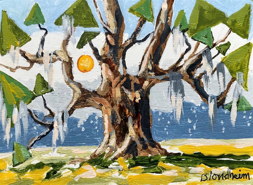 """Tree Toons Live Oak"" original fine art by Linda Blondheim"