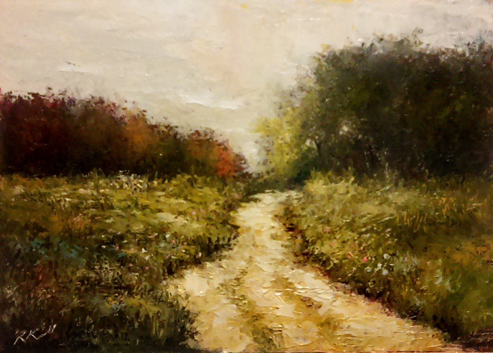 """A Dirt Road to the Woods"" original fine art by Bob Kimball"
