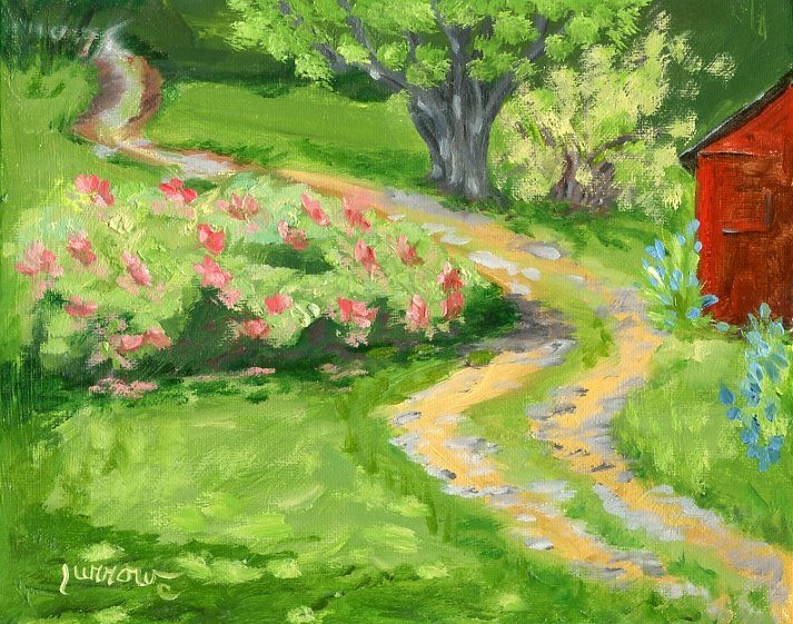 """ORIGINAL LANDSCAPE PAINTING OF PLEASANT GROVE FARM"" original fine art by Sue Furrow"