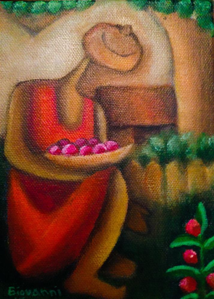 """""""Gardening"""" original fine art by Giovanni Antunez"""