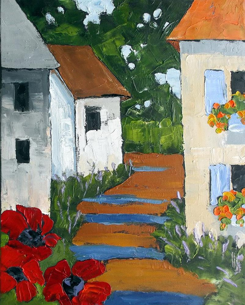 """""""Provence Poppies"""" original fine art by lynne french"""
