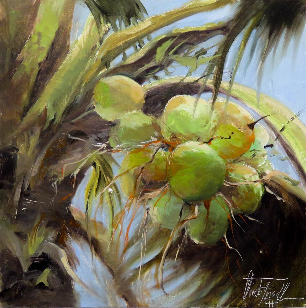 """Coconuts"" original fine art by Christa Friedl"
