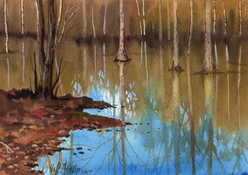 """Obion River no. 3"" original fine art by Jeff Atnip"