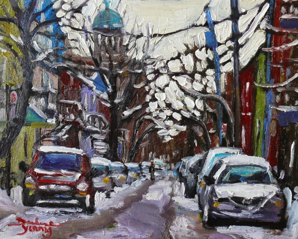 """""""816 Montreal Winter, Le Plateau"""" original fine art by Darlene Young"""