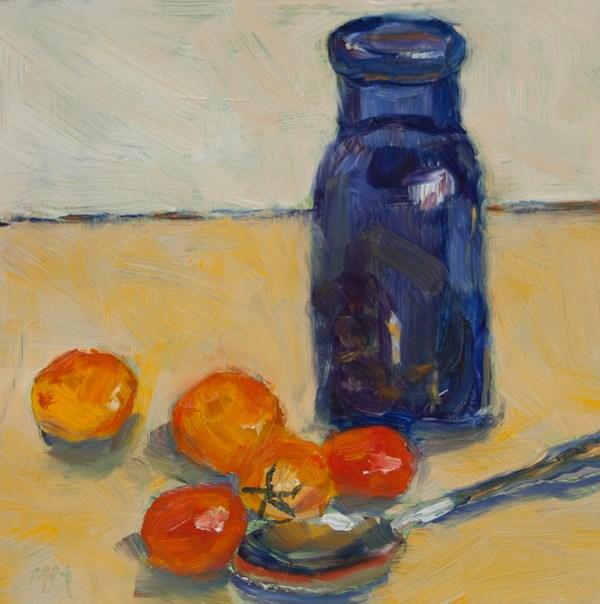 """""""Blue Bottle"""" original fine art by Maria McNitt"""