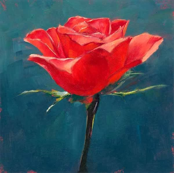 """The Last Rose"" original fine art by Brenda Ferguson"