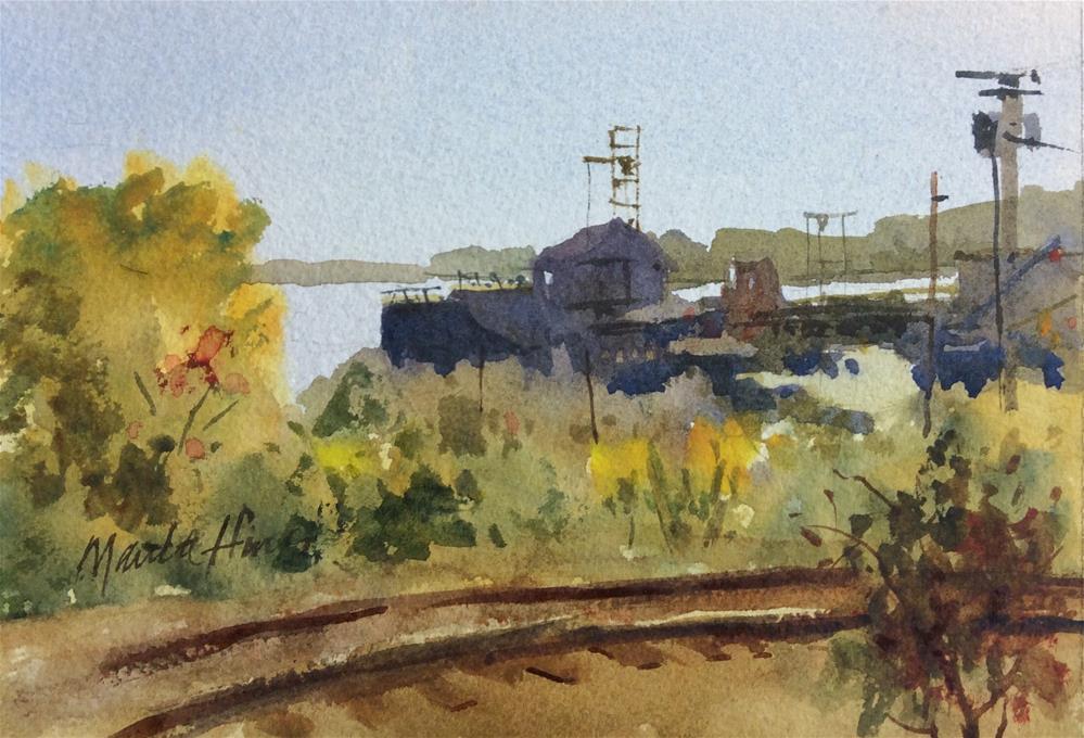 """The Barge"" original fine art by Marita Hines"