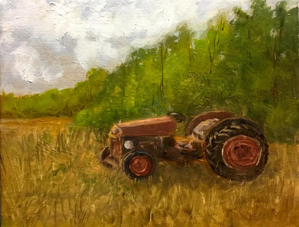 """old tractor "" original fine art by Betty Argiros"