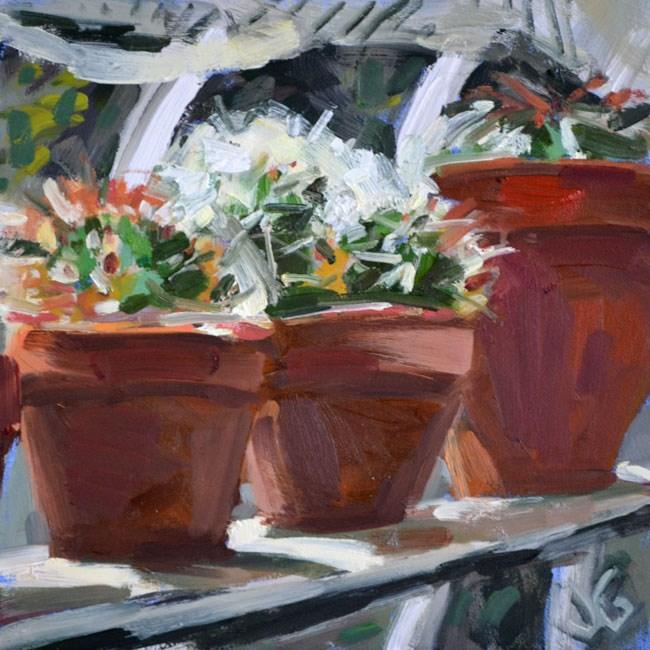 """Sunny Ledge"" original fine art by Jessica Green"