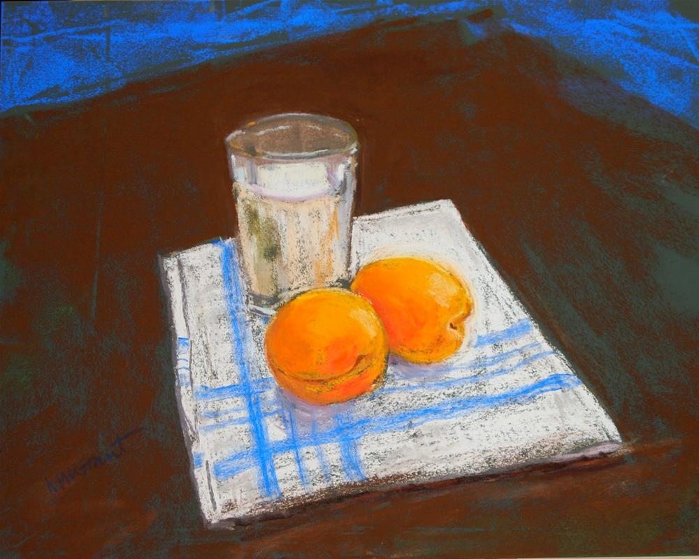 """""""Milk and Apricots"""" original fine art by Michelle Wells Grant"""