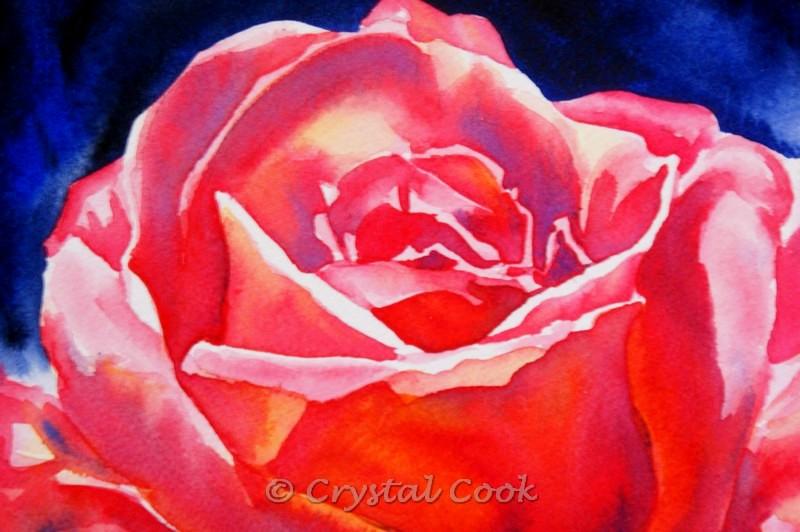 """Resplendent"" original fine art by Crystal Cook"