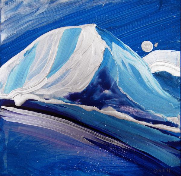 """Arctic Landscape 3"" original fine art by Pam Van Londen"