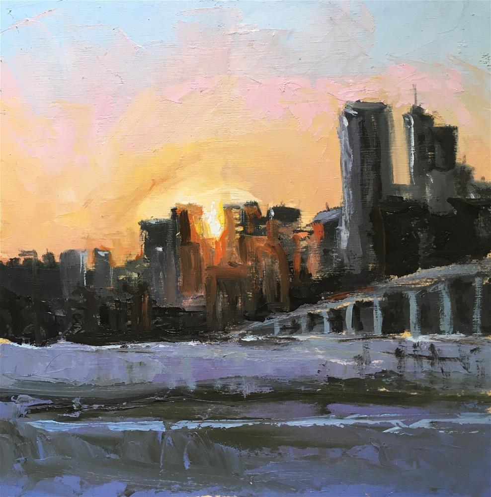 """Denver Sunrise"" original fine art by Shari Goddard Shambaugh"