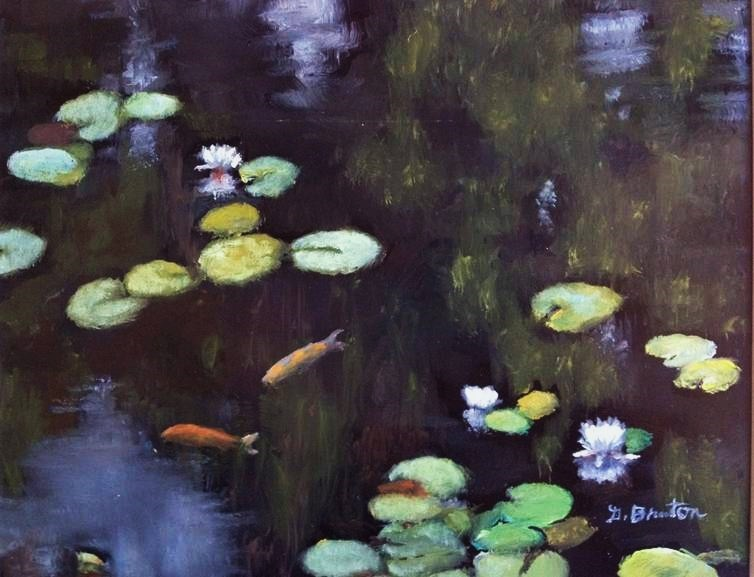 """Koi Pond"" original fine art by Gary Bruton"