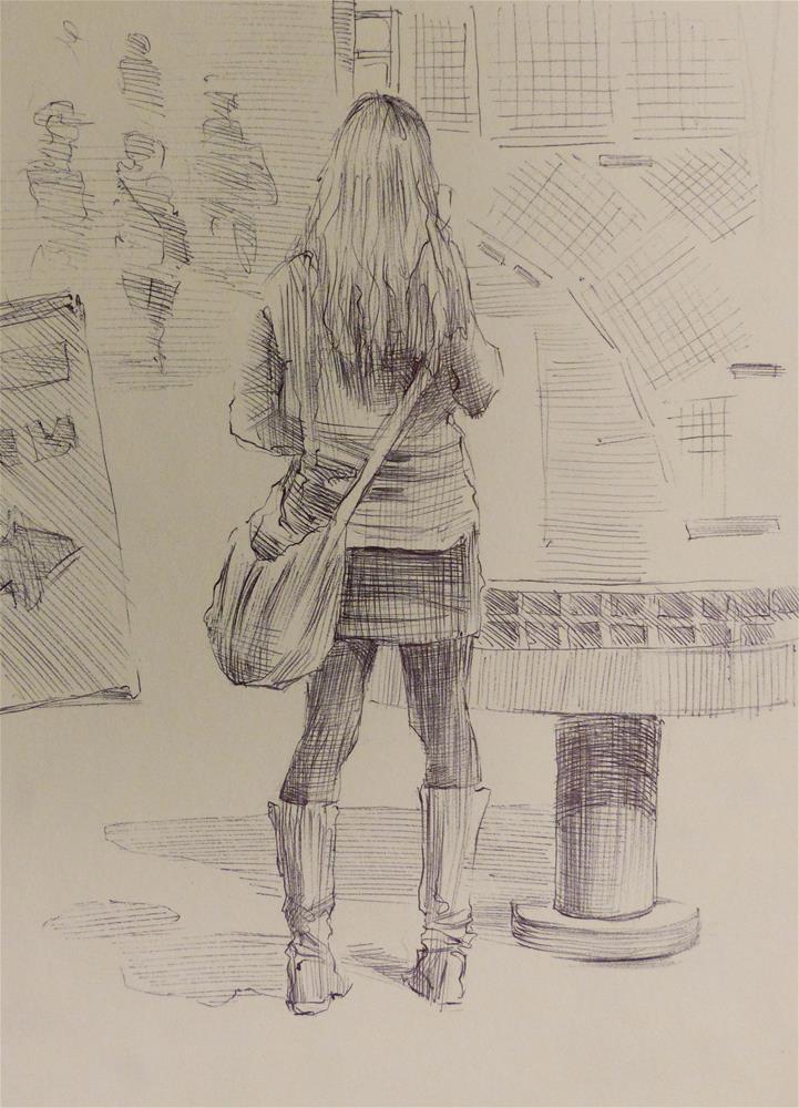 """500Faces-127"" original fine art by Katya Minkina"