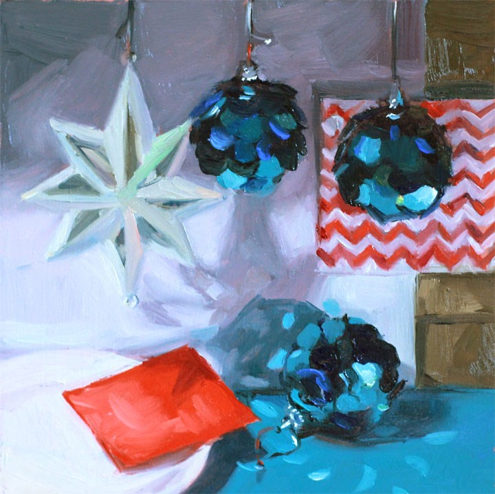 """Holiday Cheer: Disco Christmas"" original fine art by Nealy May Riley"
