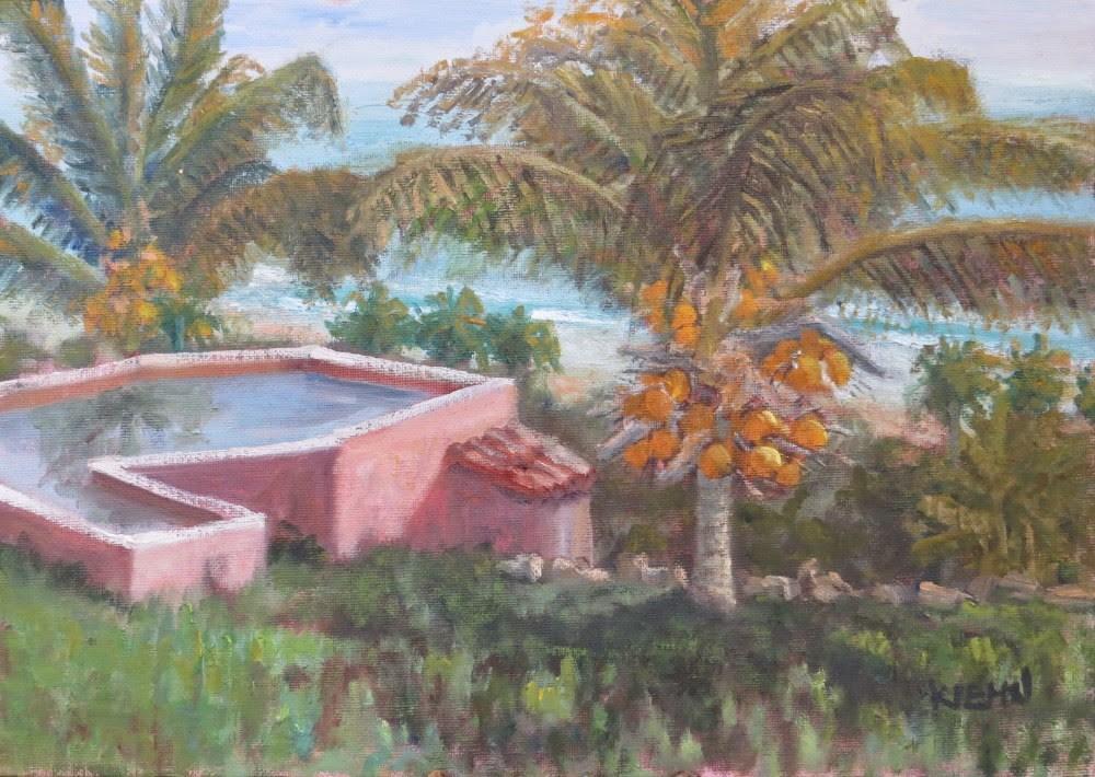 """Pool With a View"" original fine art by Richard Kiehn"