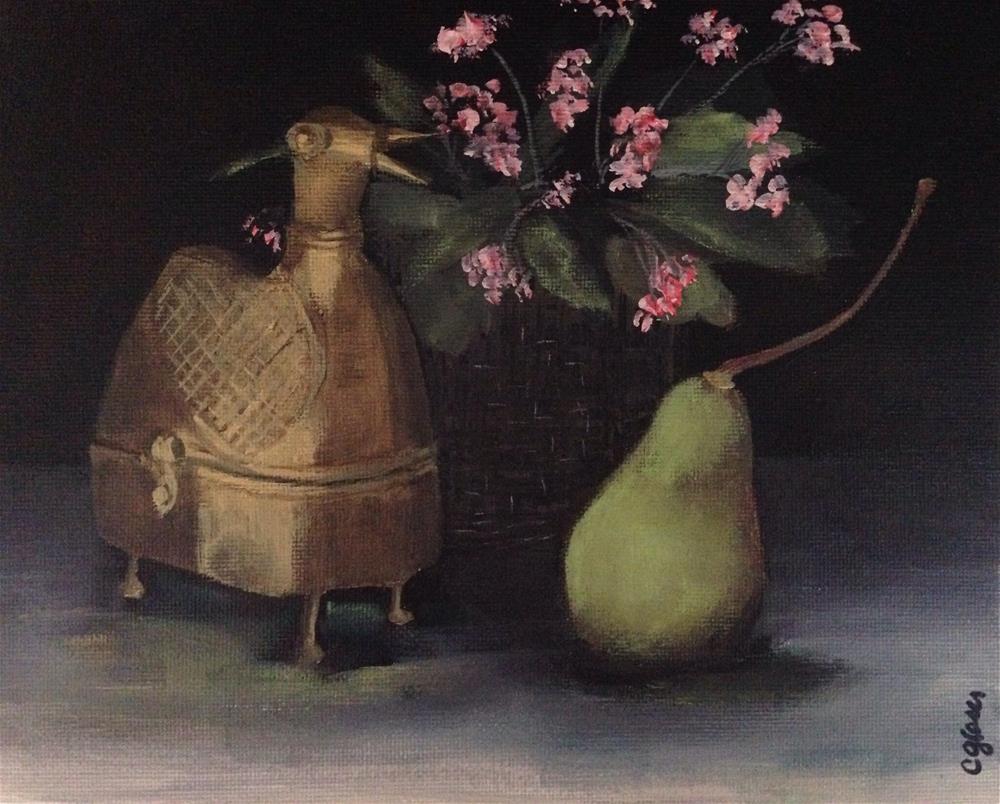 """""""Brass Chicken Box. And Friends."""" original fine art by christina glaser"""