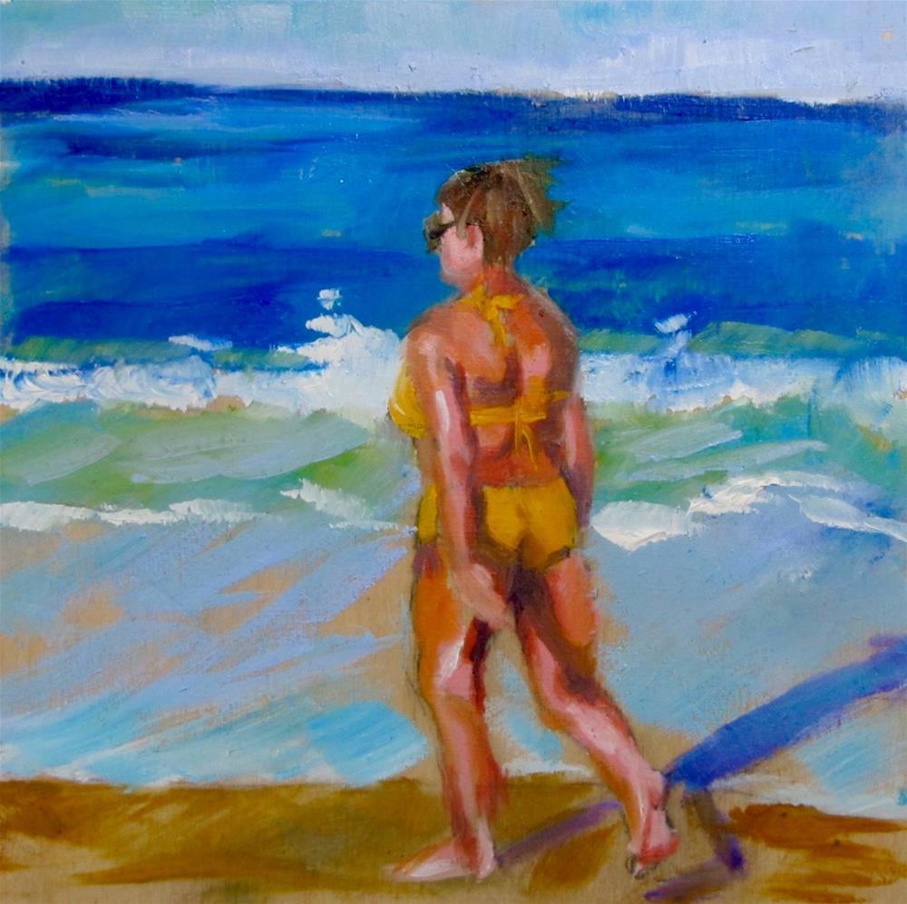 """Morning Walk"" original fine art by Christine Holzschuh"