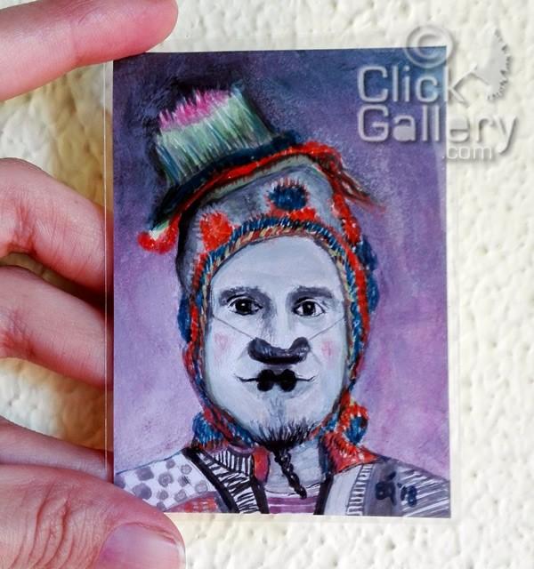"""Clown #43"" original fine art by Birsen Ozbilge"