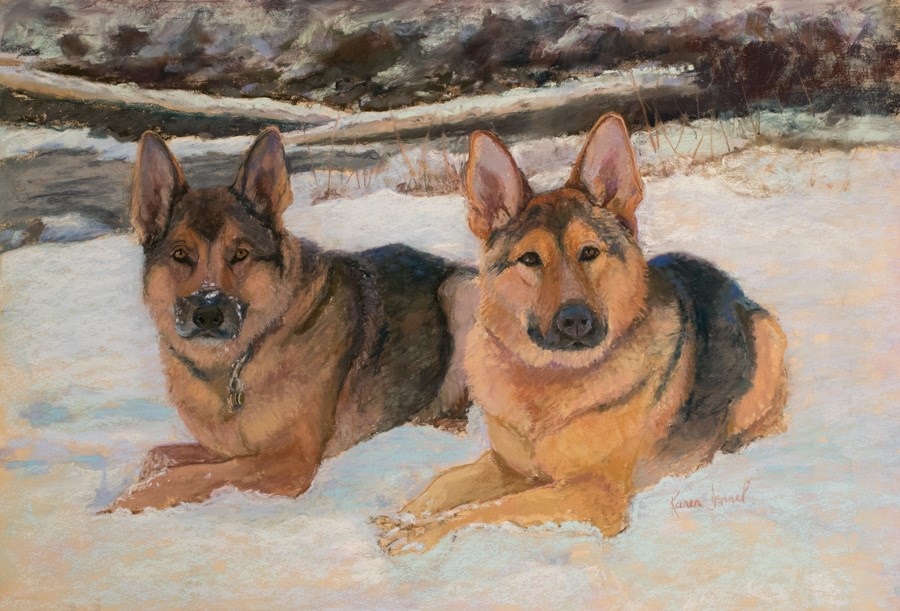 """Conrad and Othello"" original fine art by karen israel"