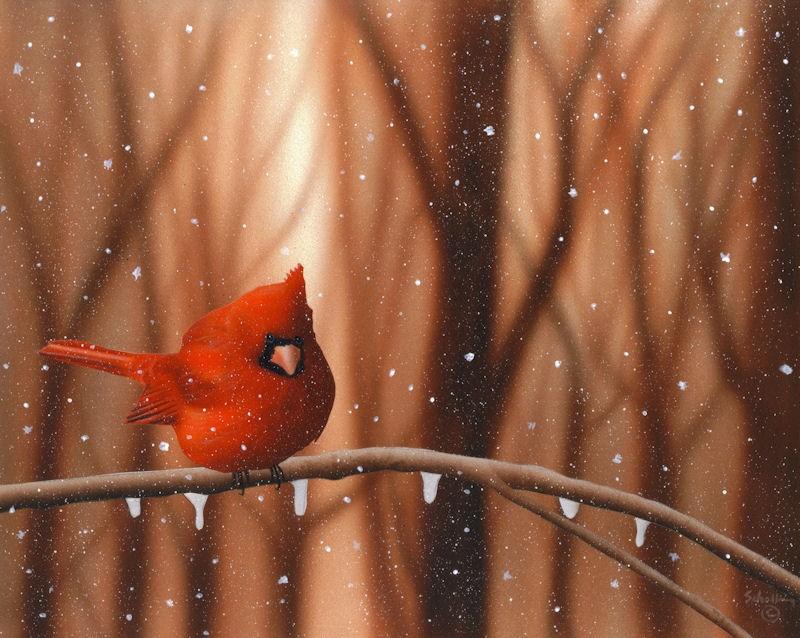 """Winter's Fury"" original fine art by Fred Schollmeyer"