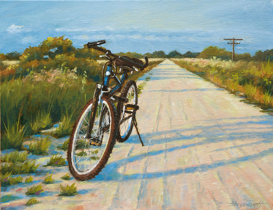 """""""Rails to Trails"""" original fine art by Terry Houseworth"""
