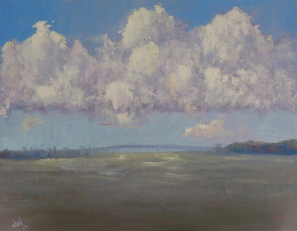 """Lagoon Clouds"" original fine art by Doreen Lepore"