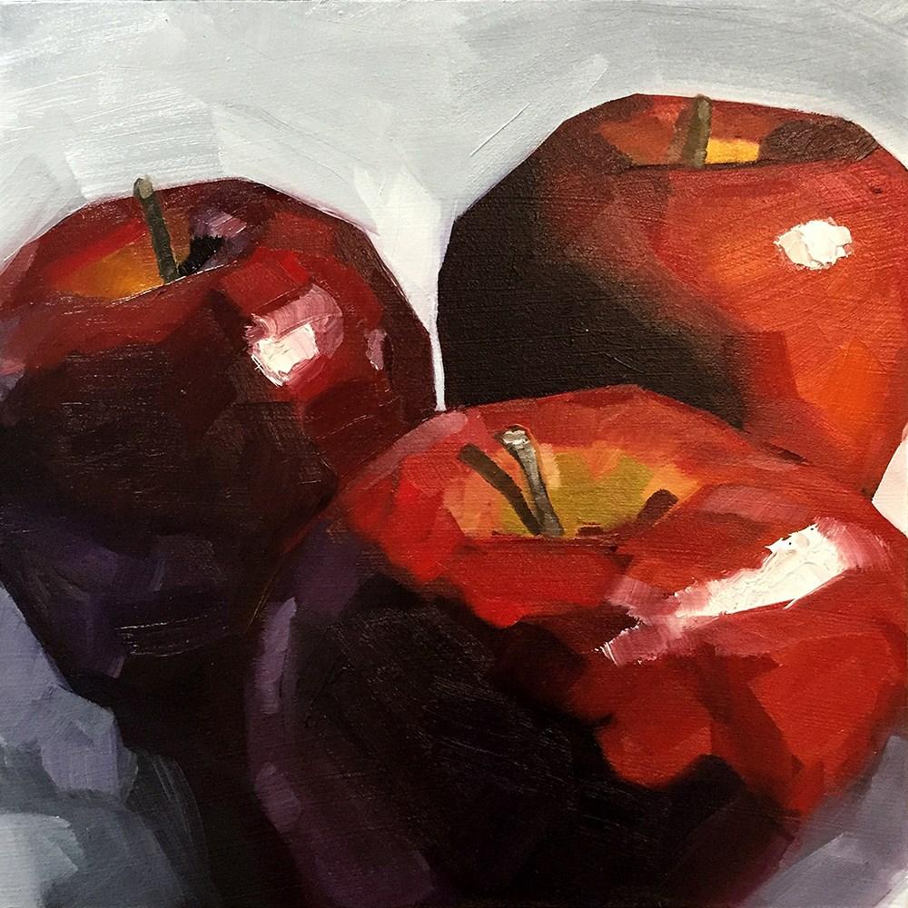 """""""Apple Tri"""" original fine art by Elizabeth Dawn Johnston"""