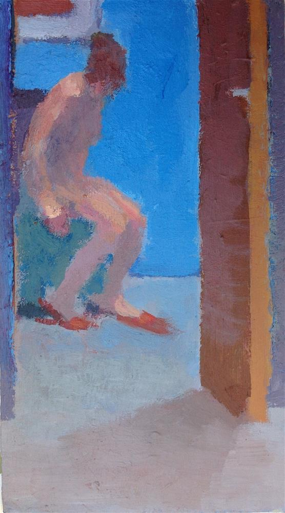 """Blue room"" original fine art by Christine Bayle"