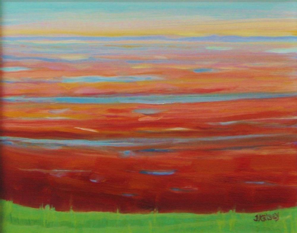 """""""Red Beach"""" original fine art by J Kelsey"""