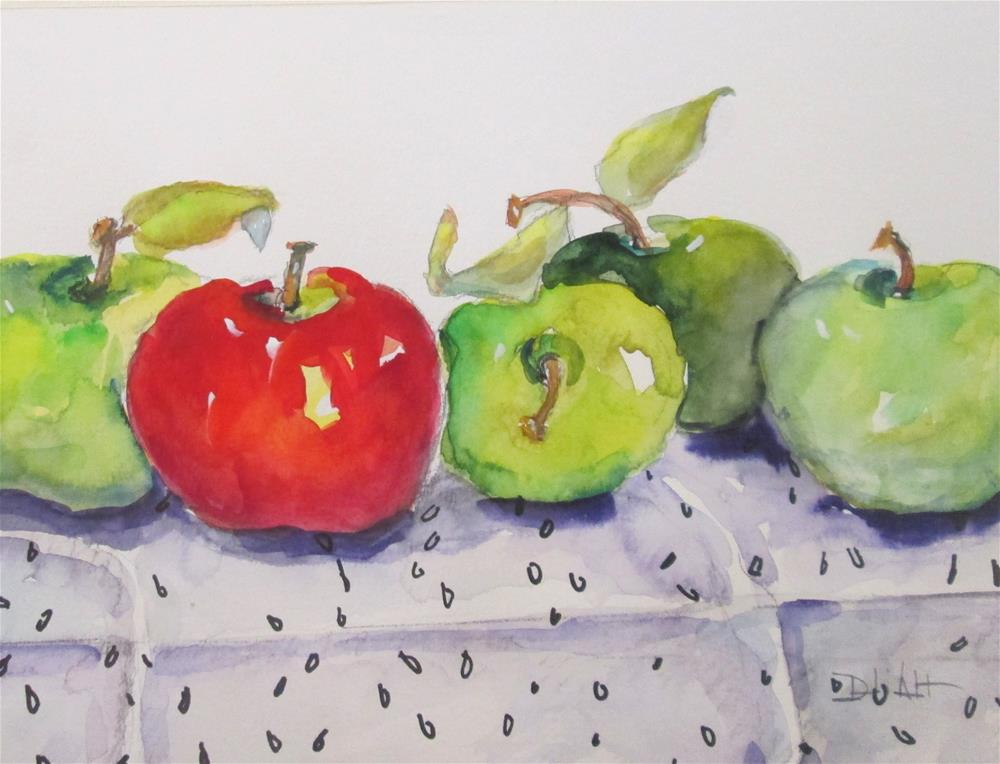 """""""Red and Green Apples"""" original fine art by Delilah Smith"""